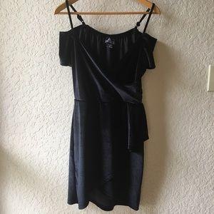 Angie Black Velvet Cold Should Dress